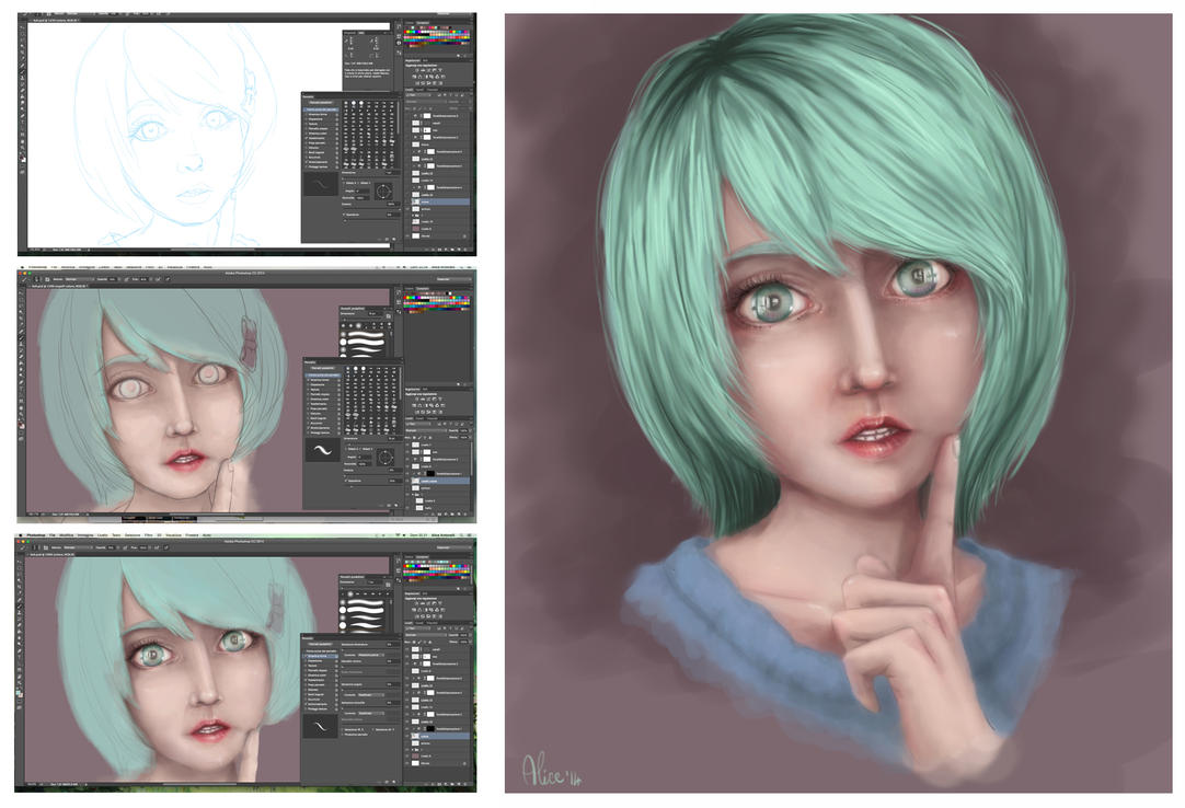 little girl - wip by Elis90