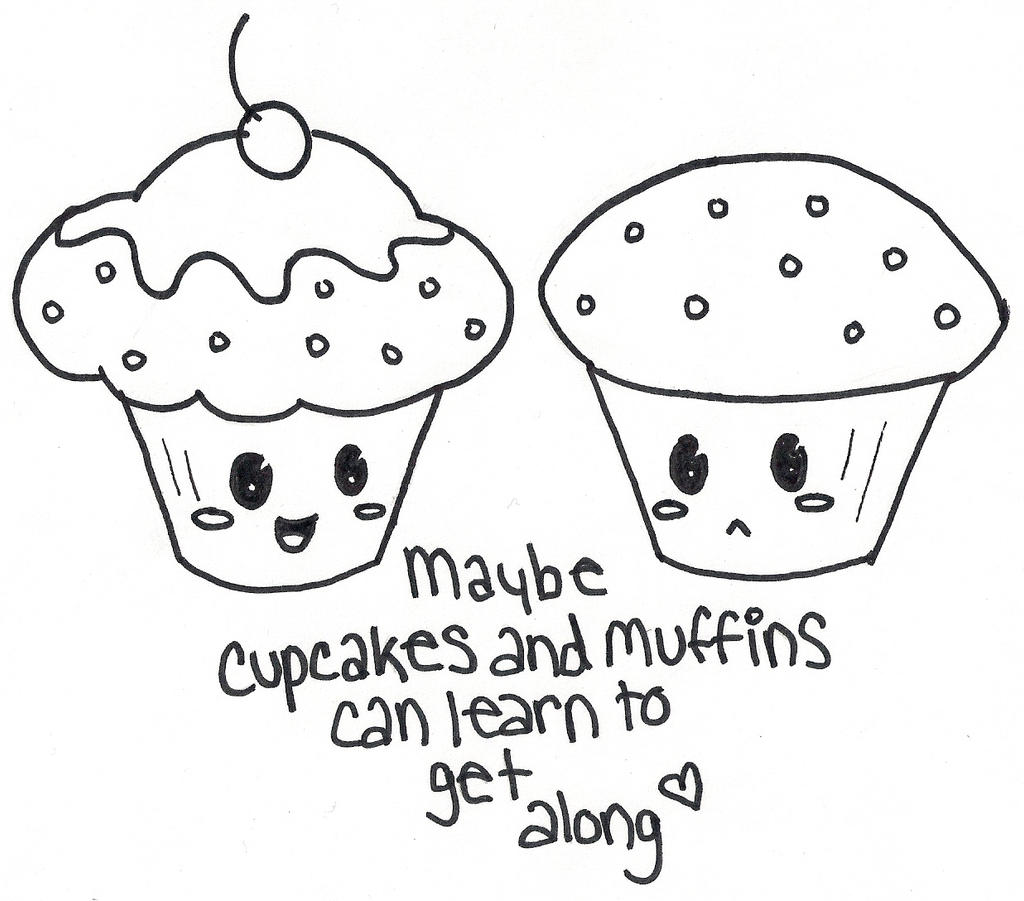 Cupcakes Vs Muffins By Hotdoghea2 On DeviantArt