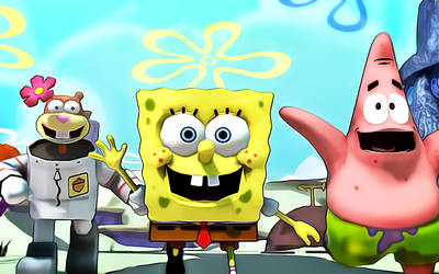 Spongebob and Friends by NinjawsGaiden