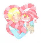 Link and Chesire naughty cat by oMariLinko