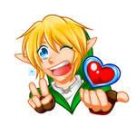 Link heart by oMariLinko