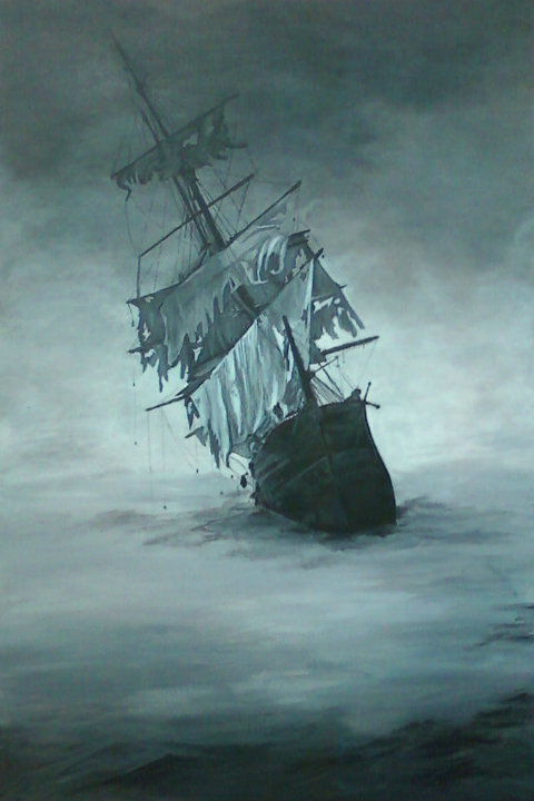 pirate ghost ship paintings