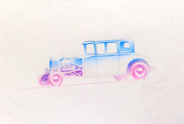 Sketchy Hot Rod by NaumenkoO