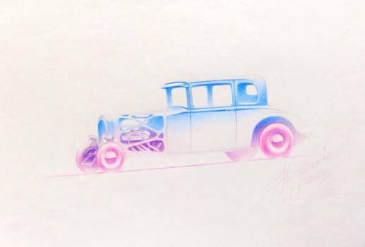Sketchy Hot Rod
