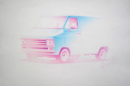 Sketchy Custom Van