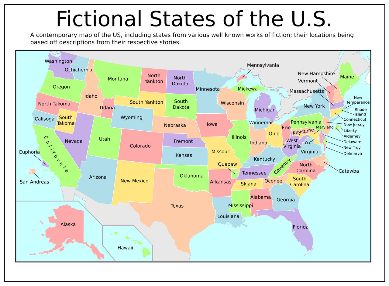Fictional States Of The Us By Tullamareena On Deviantart