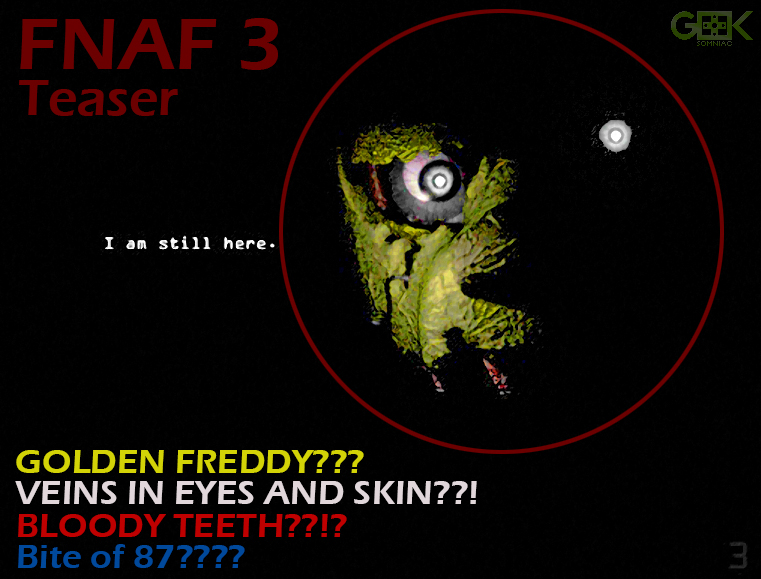 Five nights at freddy s 3 official teaser enhanced by geeksomniac on