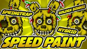 SPEEDPAINT - FNAF 3 - Golden Bonnie Pixel Art Icon
