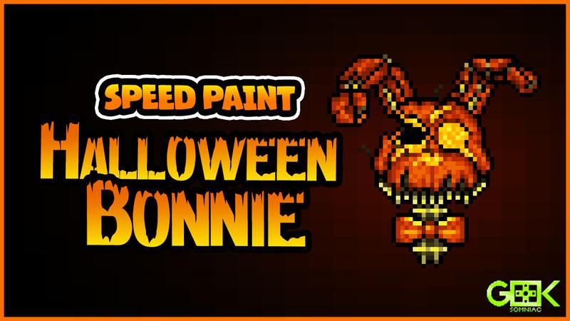 Halloween Bonnie - SPEEDPAINT - FNAF 4 - Pixel Art by GEEKsomniac ...