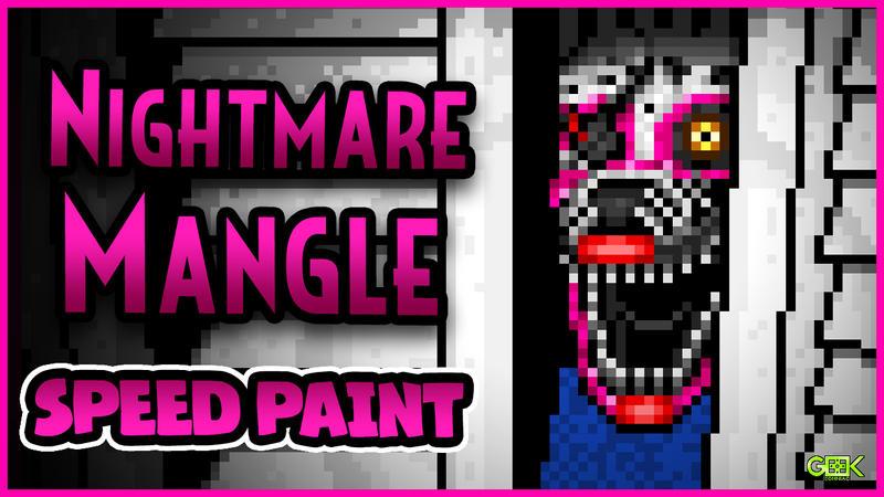 Nightmare Mangle - SPEEDPAINT - FNAF4