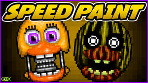 Adventure Withered Chica - SPEEDPAINT - FNAF World