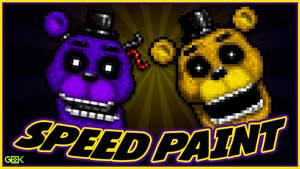 Adventure Golden Freddy - SPEEDPAINT - FNAF World