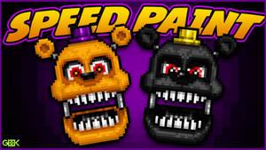 Adventure Nightmare Fredbear - SPEEDPAINT - FNAF