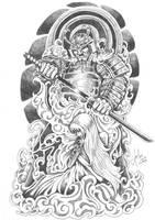 Samurai and geisha 2 by terryrism
