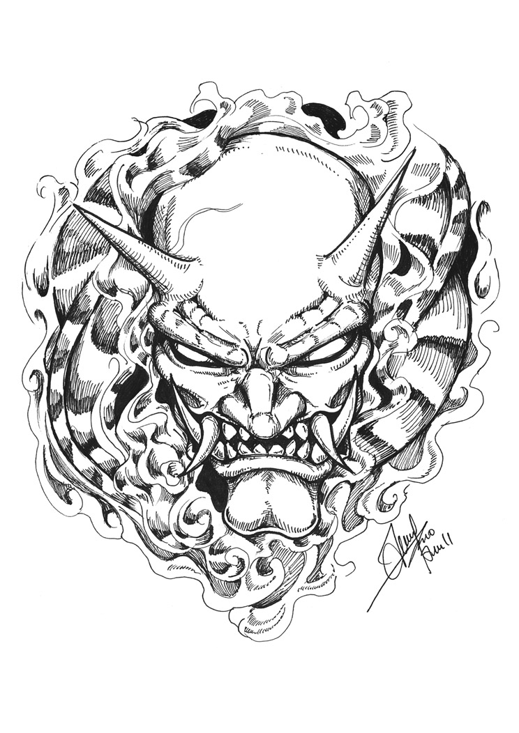 Oni Mask by terryrism