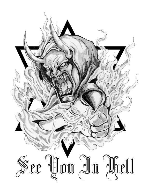 heaven and hell tattoo sketches