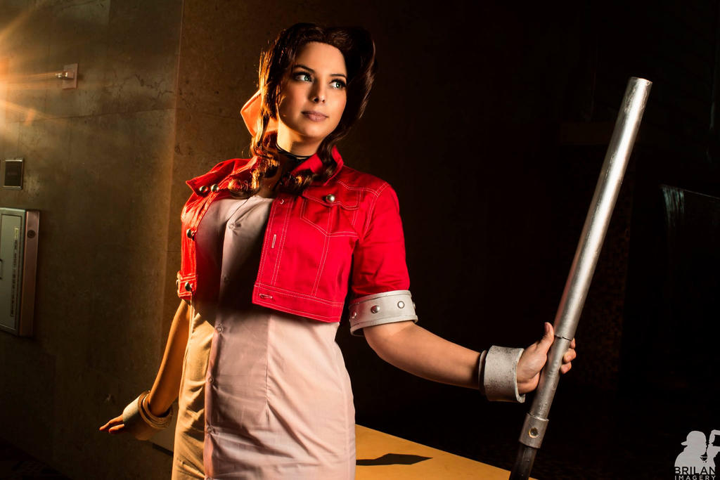 Aerith - Final Fantasy 7 by HoodedWoman