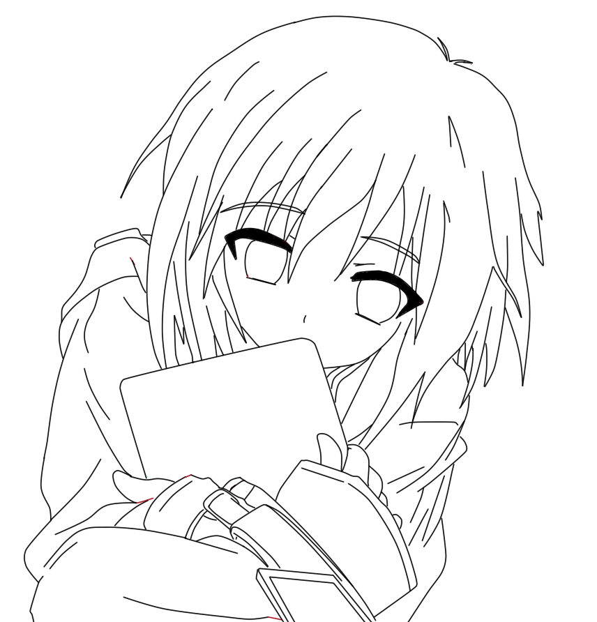 Line Art Anime : Cute anime girl line art by dancinpencil on deviantart
