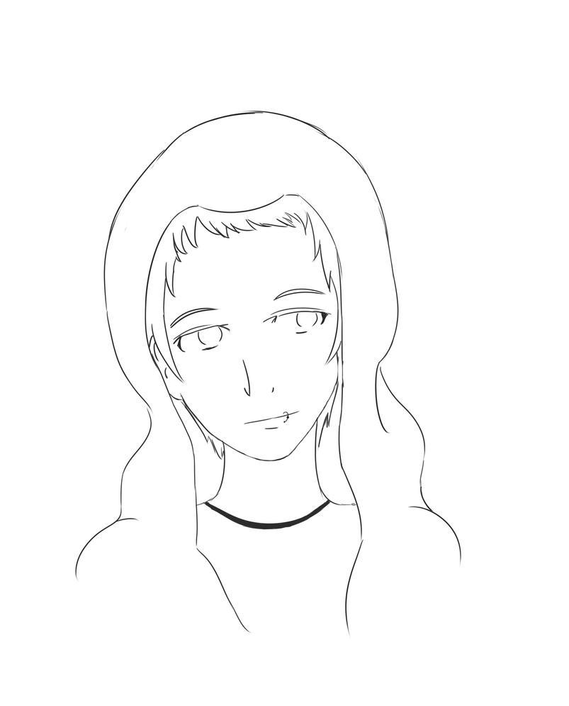 Line Drawing Boy : Cute hoodie boy line art by dancinpencil on deviantart