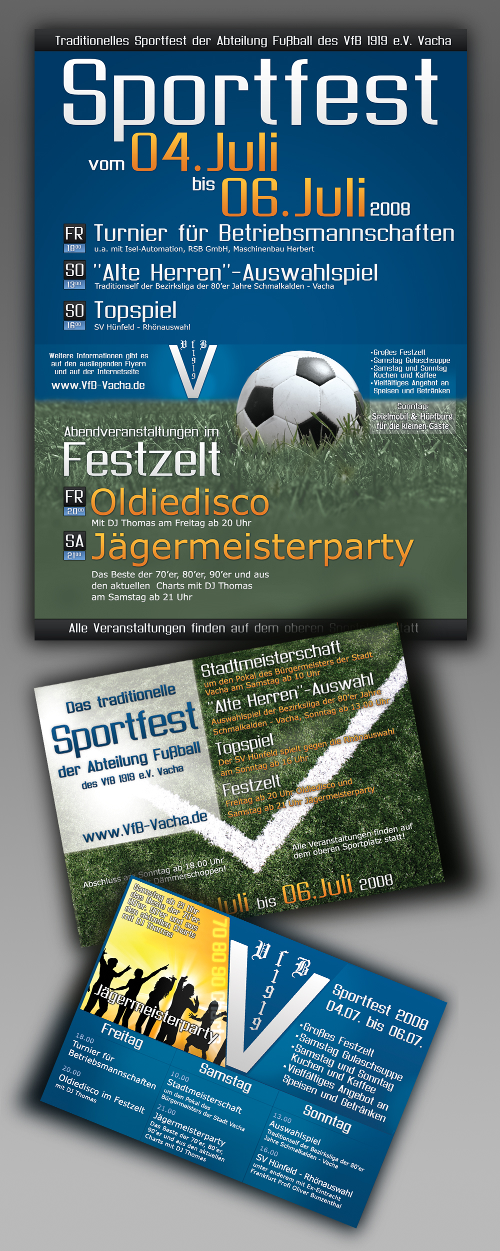 Sport event: Flyer and poster