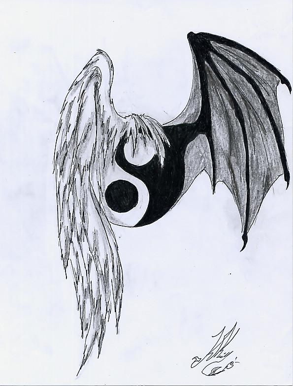 Tattoo random pinterest flower tattoos lotus flower tattoos and - Yin Yang Wings By Somnium Draco On Deviantart