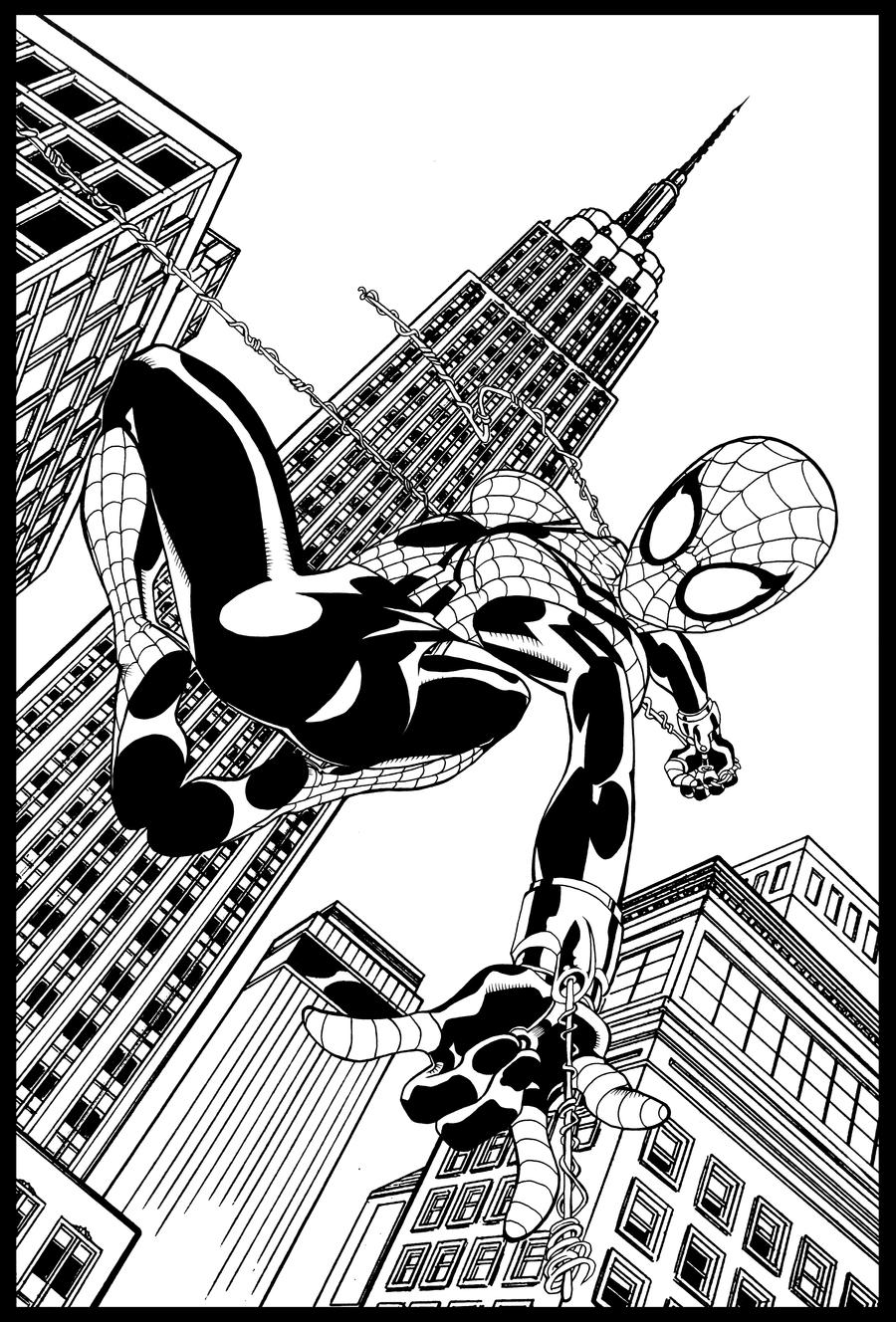 spider girl coloring pages - photo#25