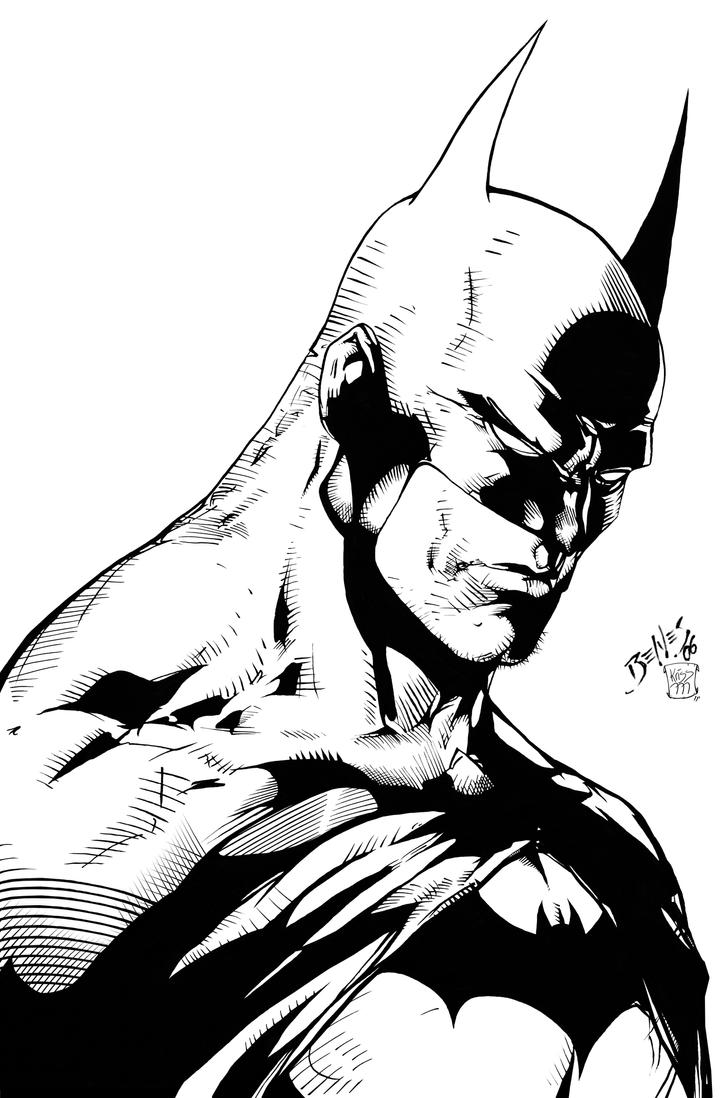 batman sketch by edbenes inked by kriss777