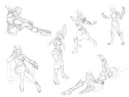Guild Wars inspired pose practice
