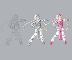 Young Zelda Inspired Character Concept by kaomau