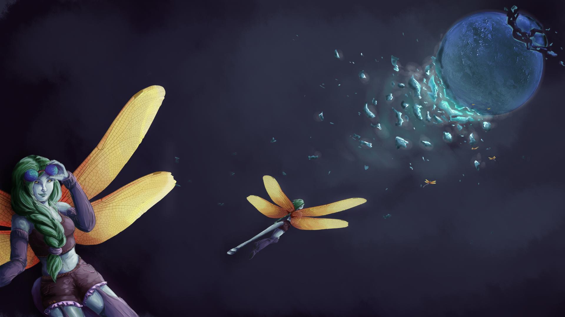 Solar Powered Dragonflies