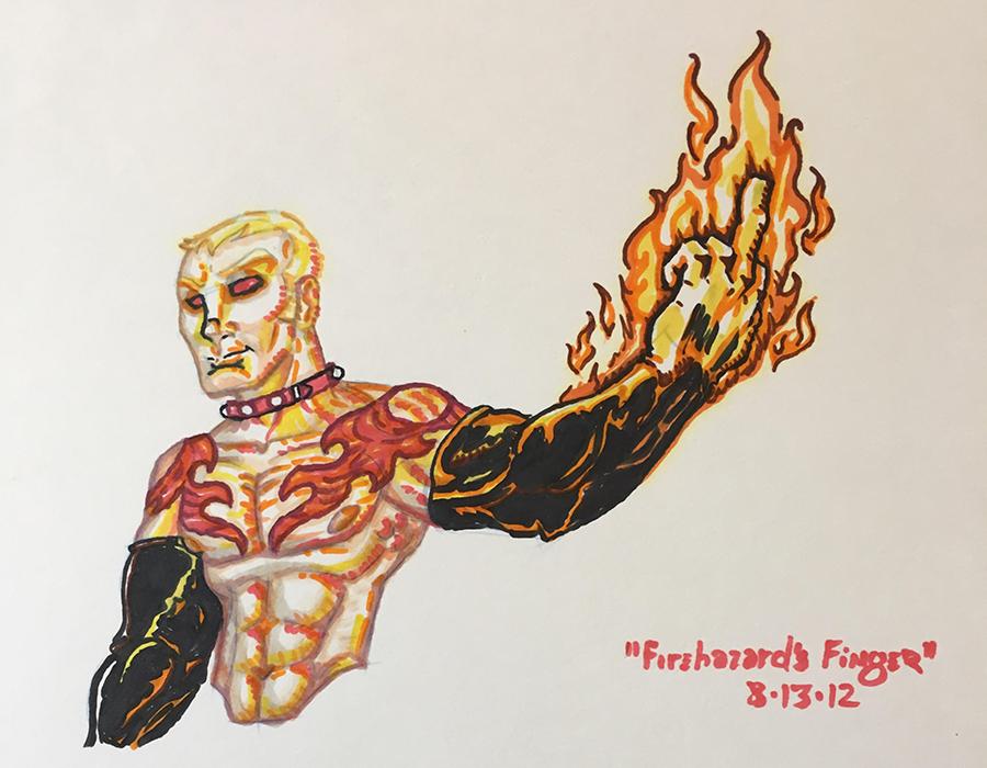 Firehazard's Finger by Xailenrath-Universe