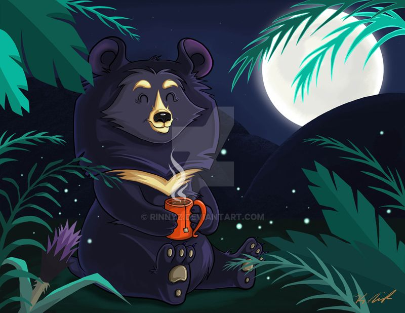 Moon Bear's Cup o' Tea by rinnyz