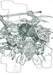 TMNT TURTLES: SHELLS fan-comic splashpage