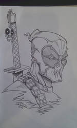 DEADPOOL comic con germany sketch