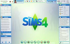 Rainmeter Sims 4 Desktop v.1.2 by cloudedhearts