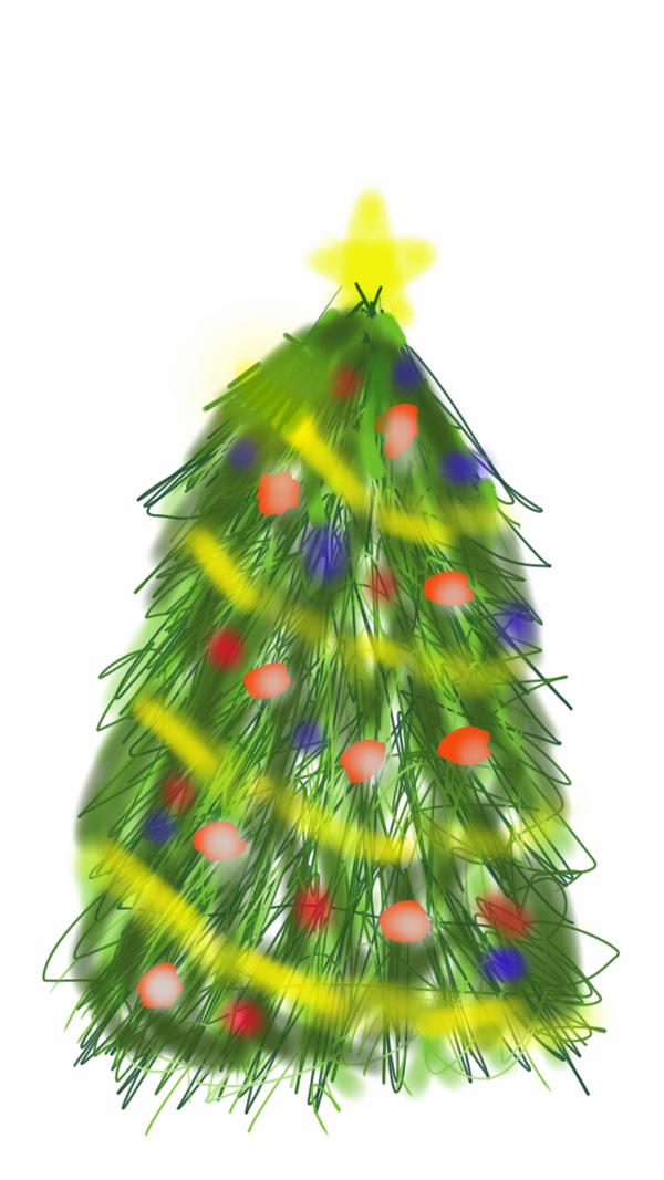 Sketch a Christmas Tree by LH-PencilArt