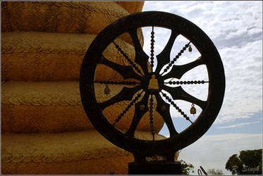 wheel of budha by strangerinthecrowd