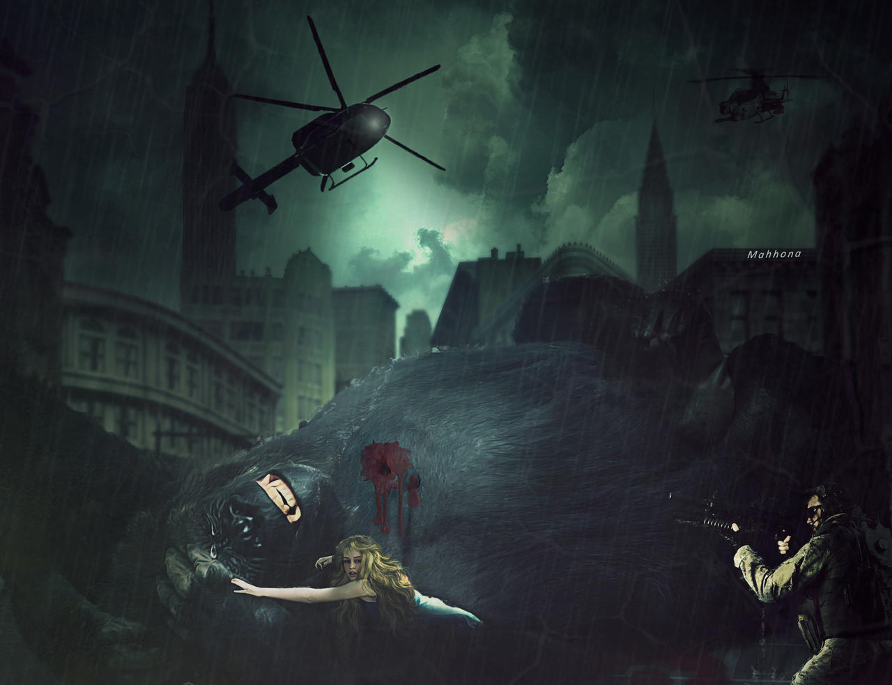 King-Kong's-end by Mahhona