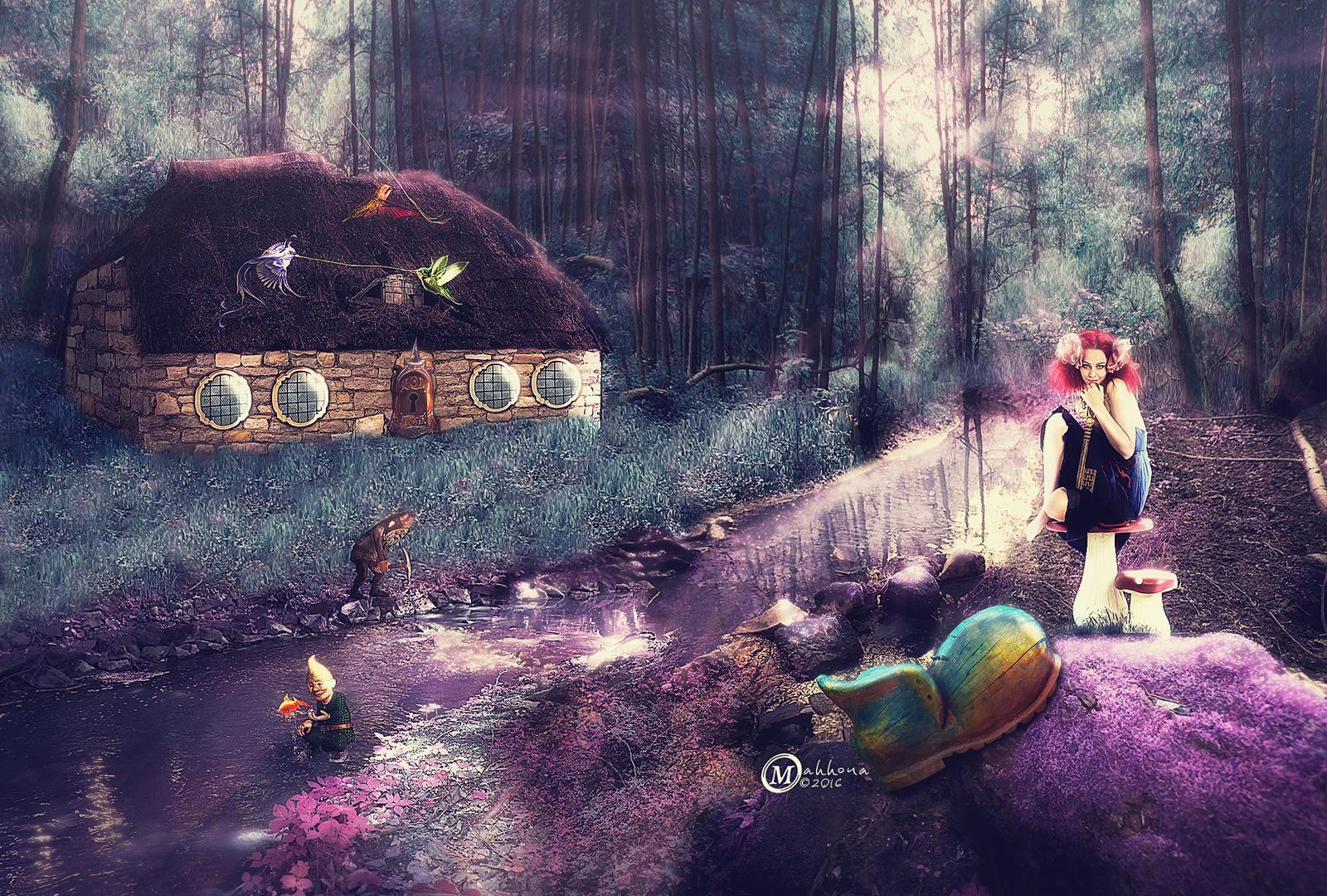Working-on-fairy-house by Mahhona
