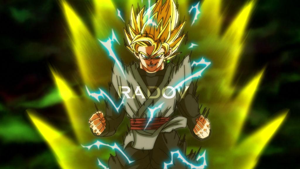 Goku Black SSJ2 Anie Style By Radov By RadovAnimation On