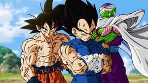 Dragon Ball Super Movie scene like DBS TV anime
