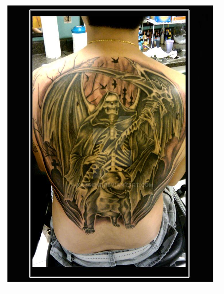Grim Reaper Back Tattoo: Grim Reaper Backpiece Tattoo By Kayden7 On DeviantArt