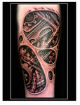 Biomechanical underskin tattoo