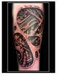 Biomechanical underskin tattoo