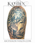 chrysanthemum bird flower tattoo