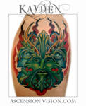 Greenman Pagan tattoo