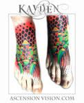 Geometric foot tattoo