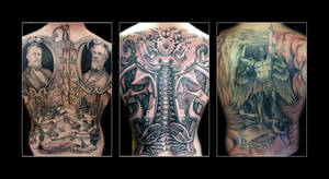 Black and Gray Backpieces