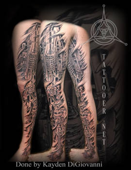 Dallas Denver Tattoo Artist Mechanical Leg