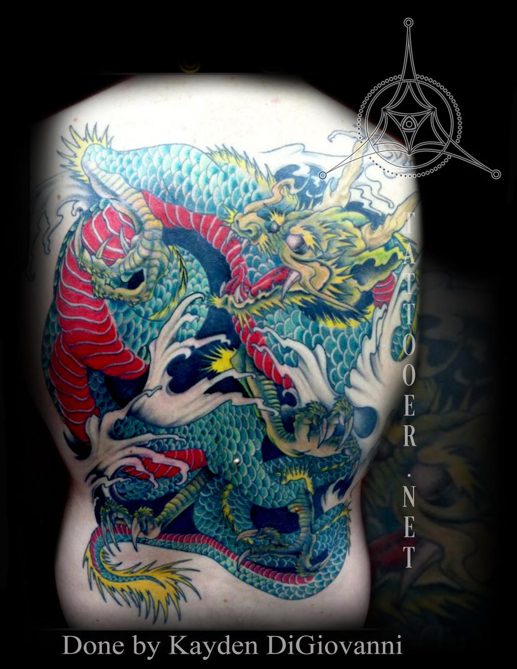 Japanese Dragon Backpiece by kayden7